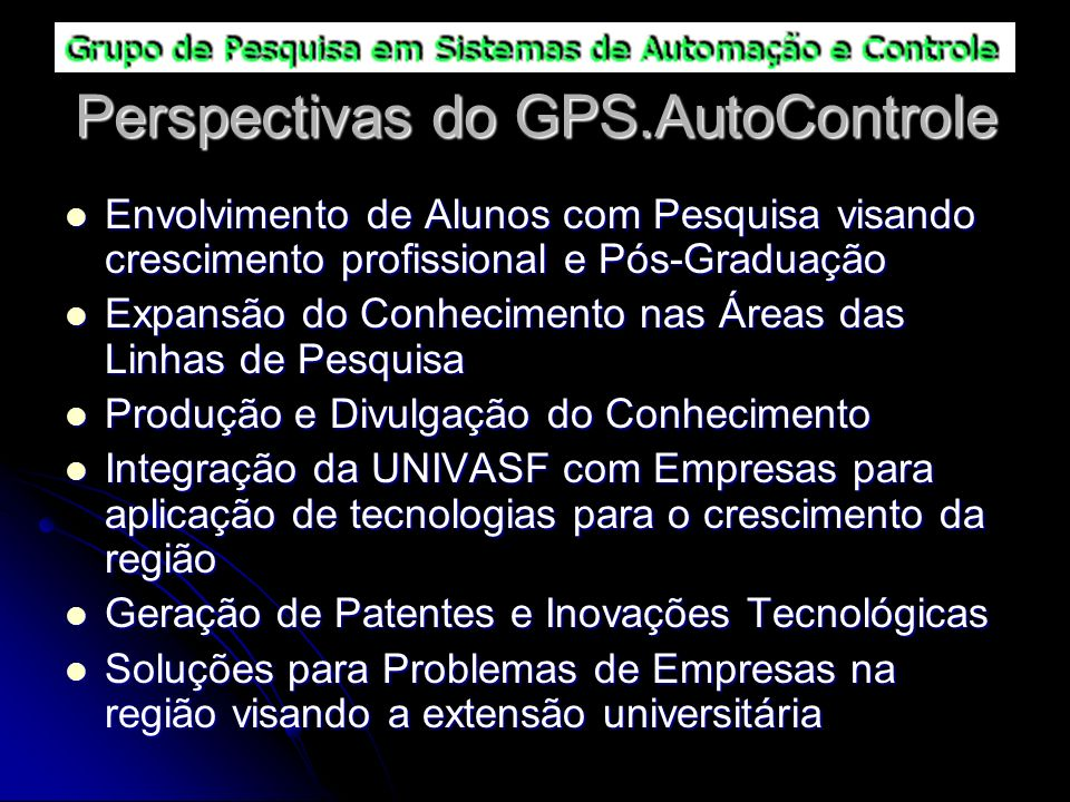 Perspectivas do GPS.AutoControle