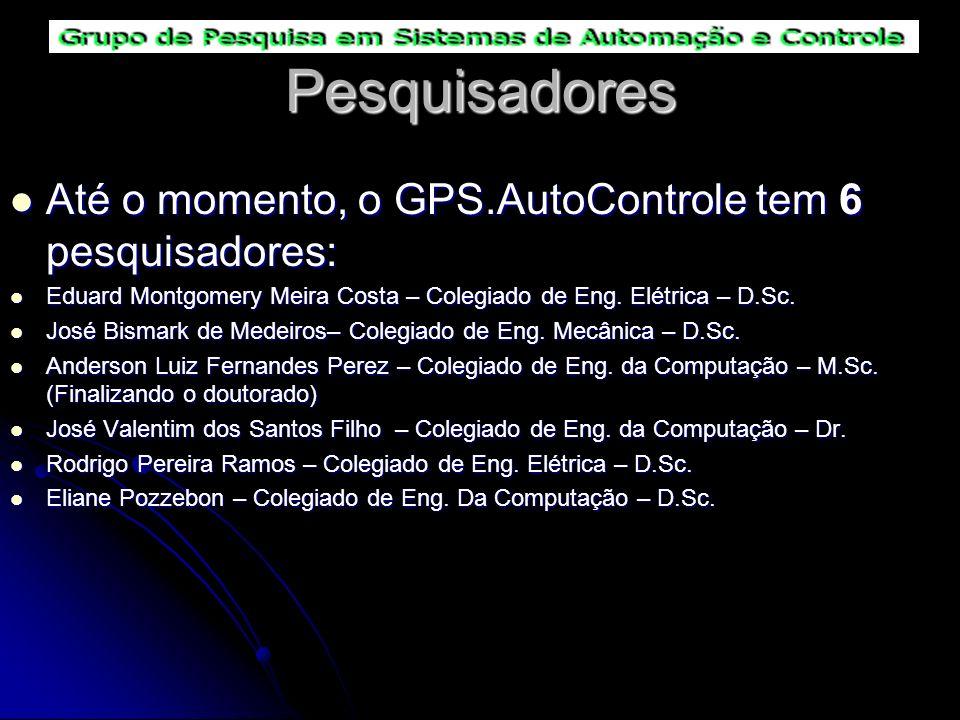 Pesquisadores Até o momento, o GPS.AutoControle tem 6 pesquisadores: