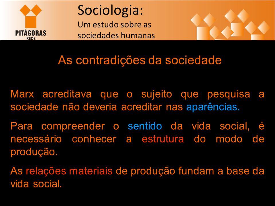 As contradições da sociedade