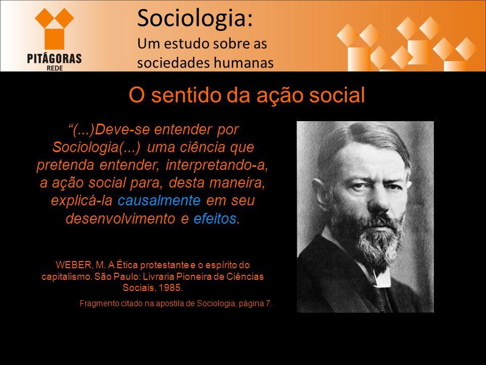 O sentido da ação social