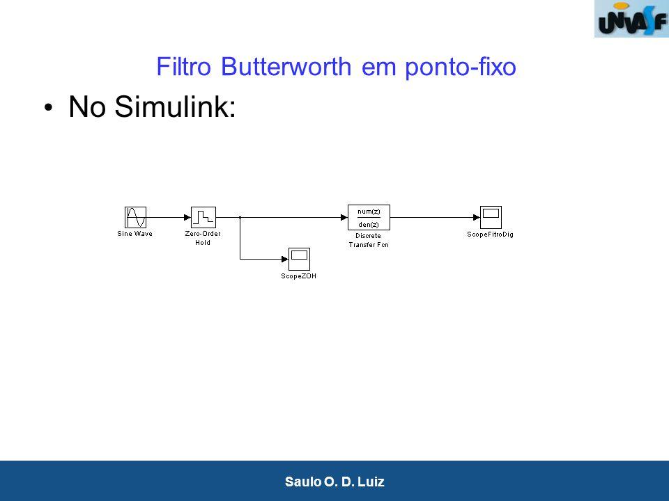 Filtro Butterworth em ponto-fixo