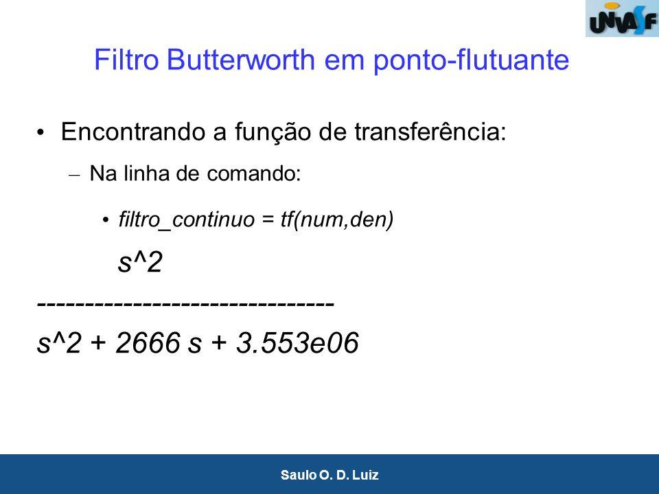 Filtro Butterworth em ponto-flutuante