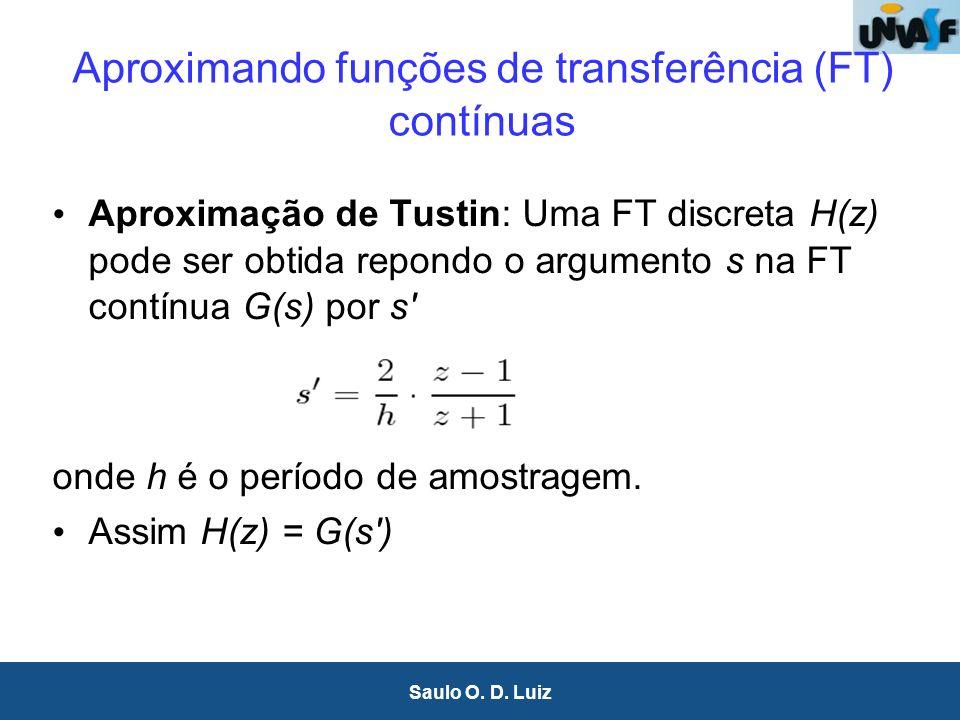Aproximando funções de transferência (FT) contínuas