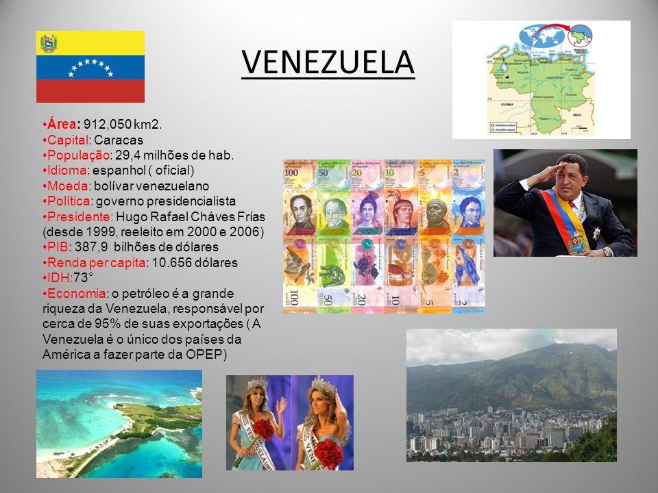 VENEZUELA Área: 912,050 km2. Capital: Caracas