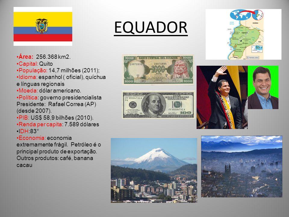 EQUADOR Área: 256.368 km2. Capital: Quito