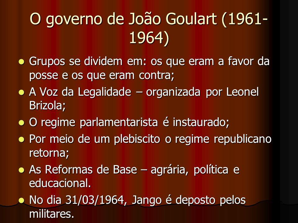 O governo de João Goulart (1961-1964)