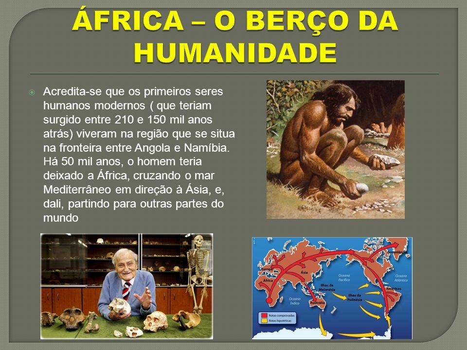 ÁFRICA – O BERÇO DA HUMANIDADE