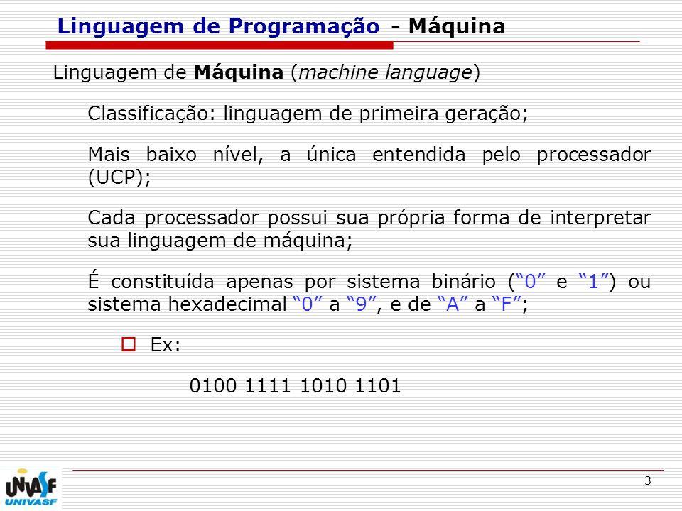 Linguagem de Programação - Máquina