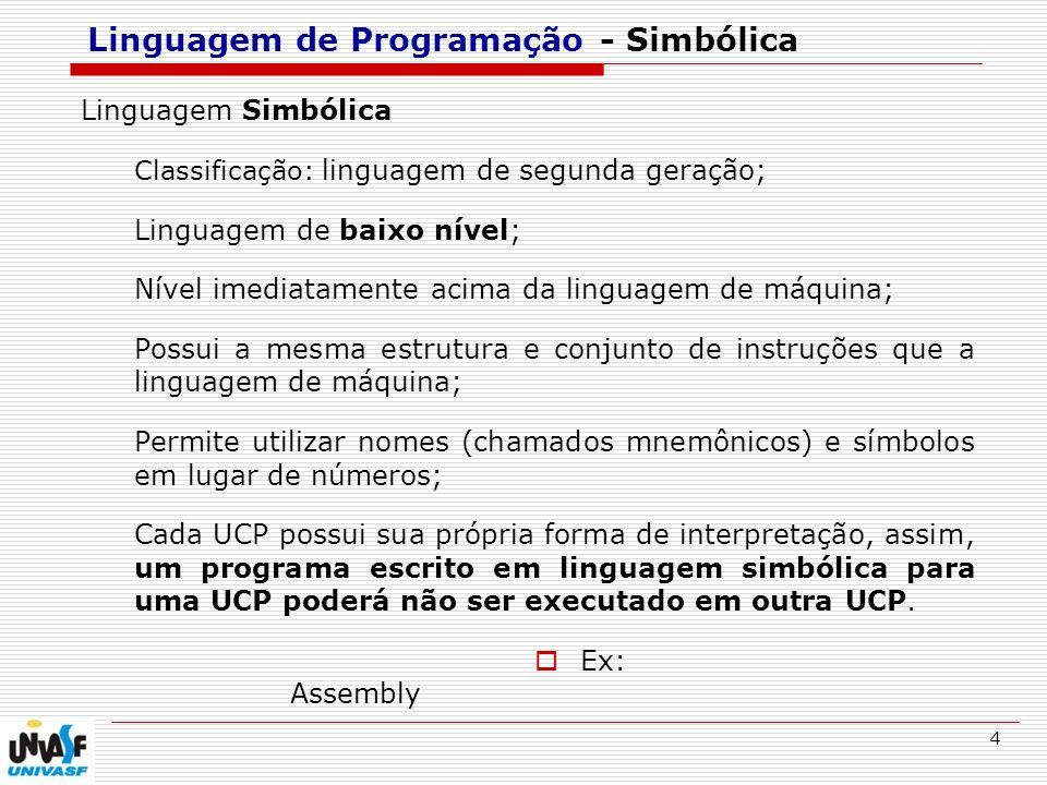 Linguagem de Programação - Simbólica