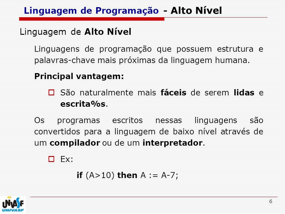 Linguagem de Programação - Alto Nível