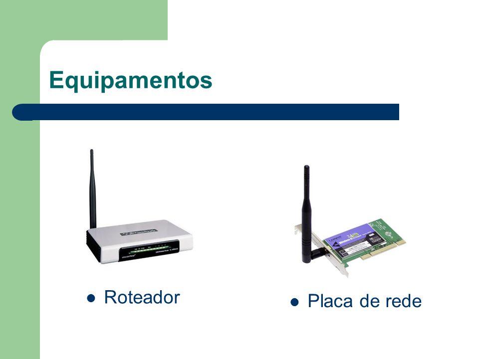 Equipamentos Roteador Placa de rede