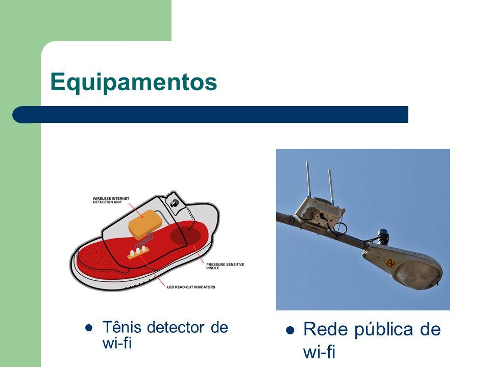 Equipamentos Rede pública de wi-fi Tênis detector de wi-fi