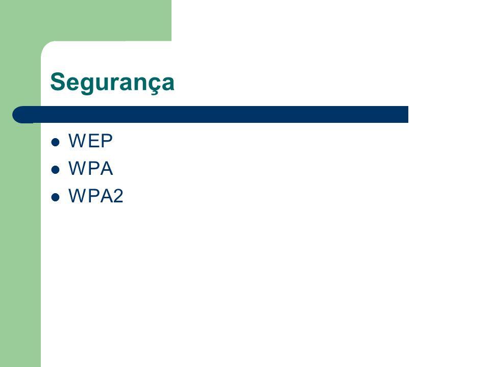 Segurança WEP WPA WPA2