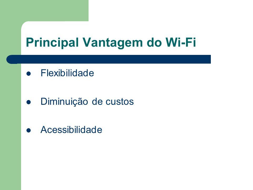 Principal Vantagem do Wi-Fi