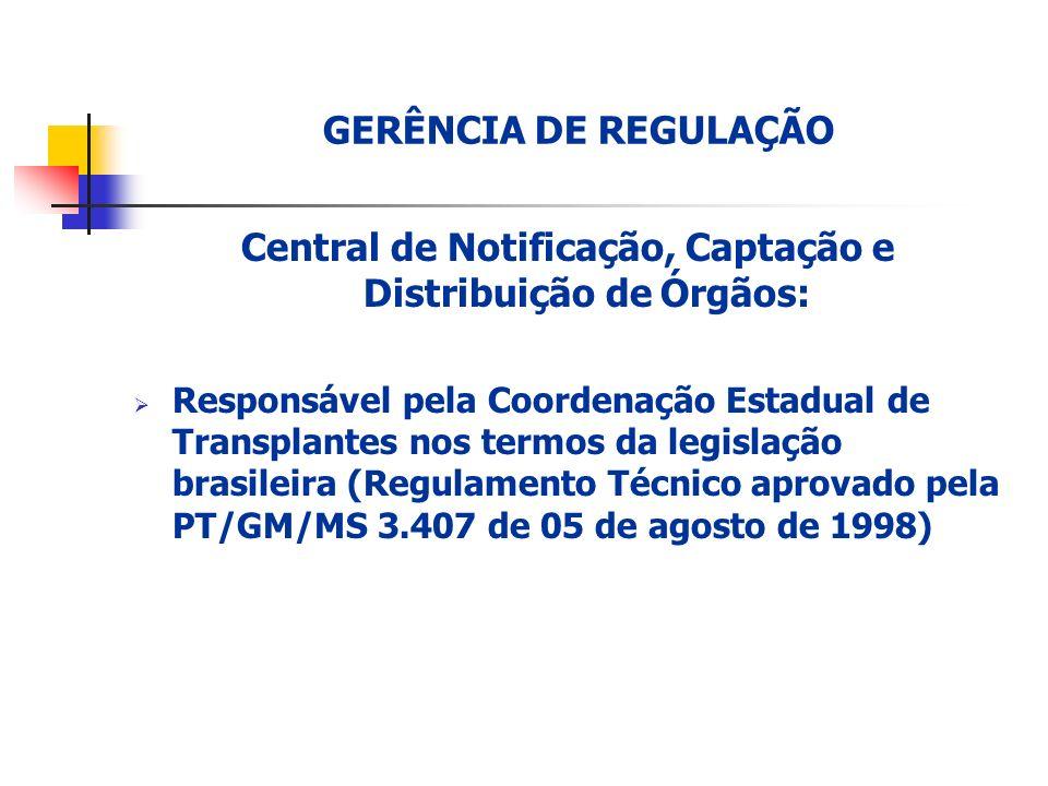 Central de Notificação, Captação e Distribuição de Órgãos: