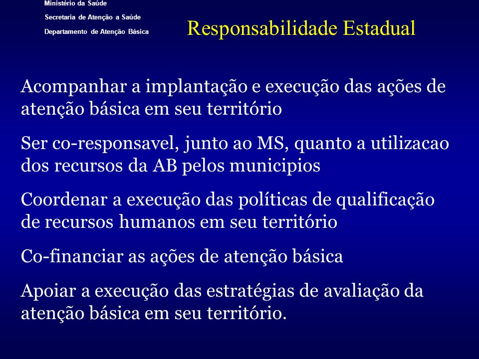 Responsabilidade Estadual