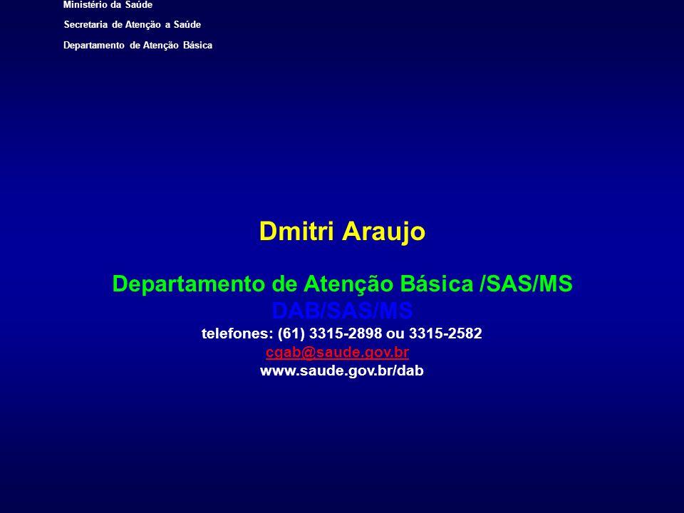 Departamento de Atenção Básica /SAS/MS