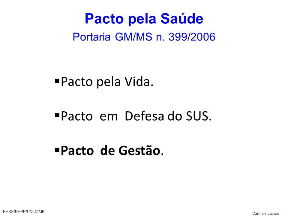 Pacto pela Saúde Portaria GM/MS n. 399/2006