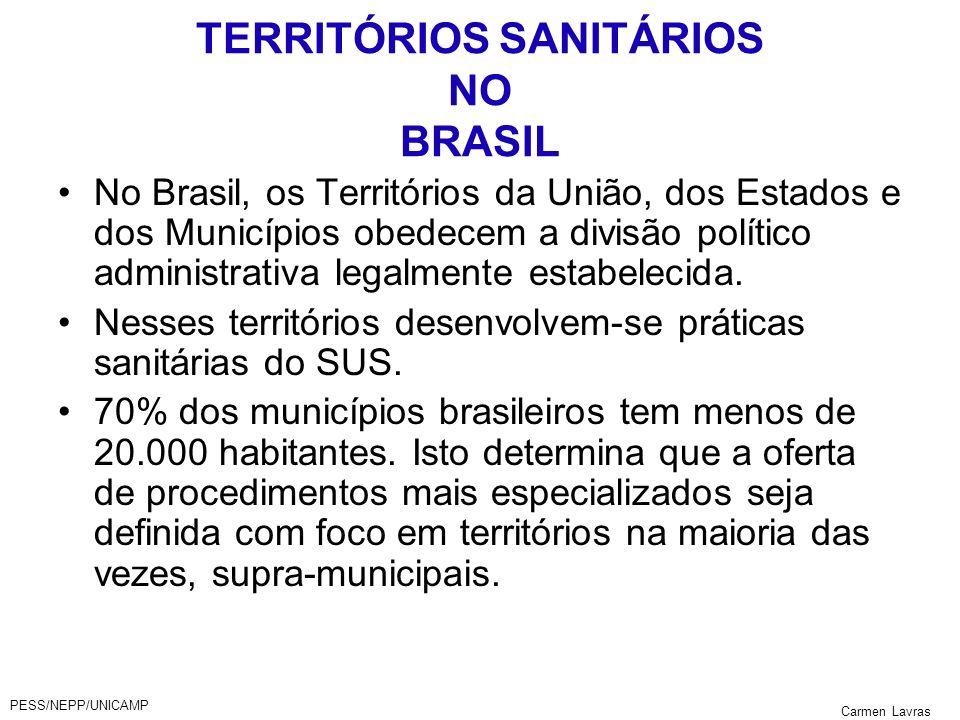 TERRITÓRIOS SANITÁRIOS NO BRASIL