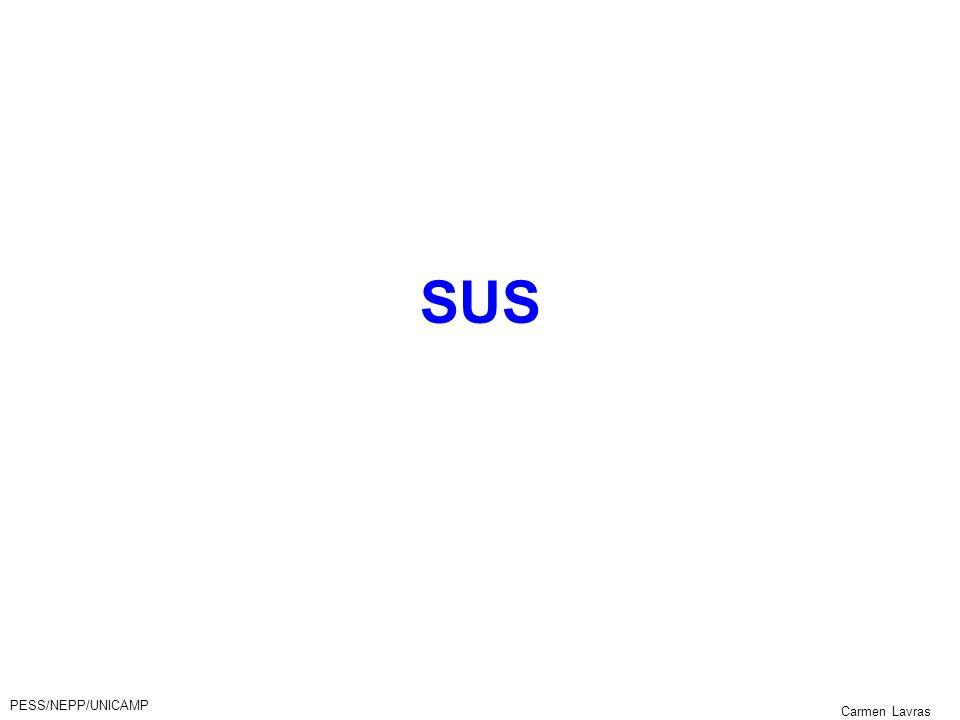SUS PESS/NEPP/UNICAMP Carmen Lavras