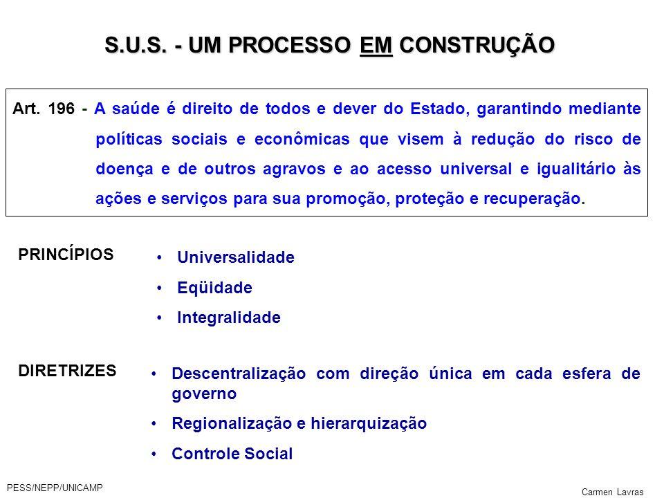 S.U.S. - UM PROCESSO EM CONSTRUÇÃO