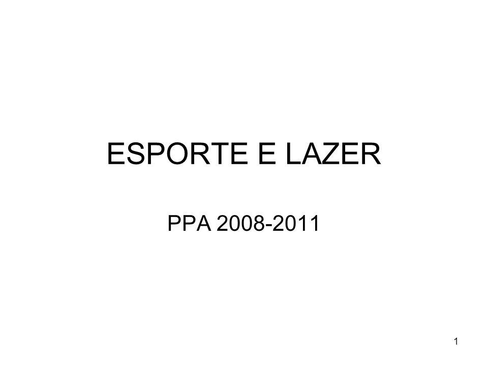 ESPORTE E LAZER PPA 2008-2011