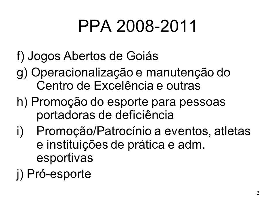 PPA 2008-2011 f) Jogos Abertos de Goiás