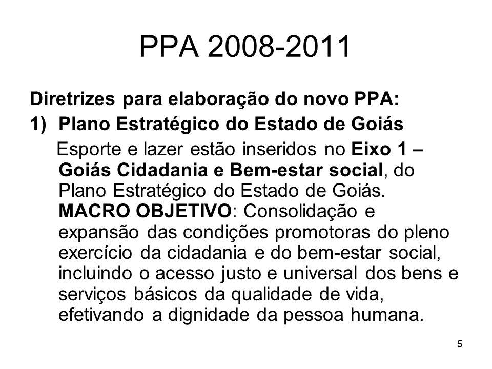 PPA 2008-2011 Diretrizes para elaboração do novo PPA: