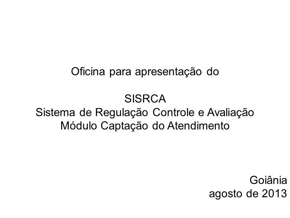 Oficina para apresentação do SISRCA