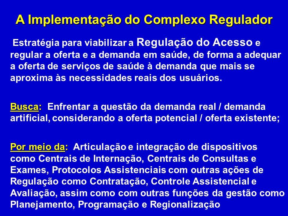 A Implementação do Complexo Regulador