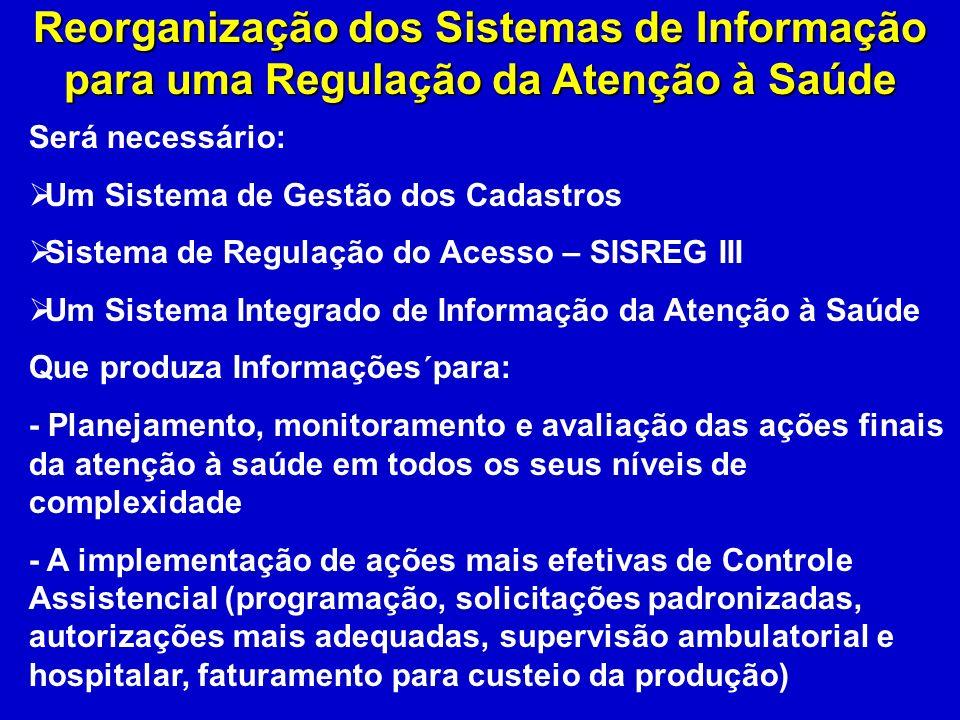 Reorganização dos Sistemas de Informação para uma Regulação da Atenção à Saúde