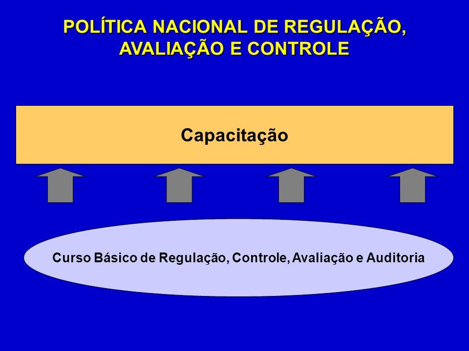 POLÍTICA NACIONAL DE REGULAÇÃO, AVALIAÇÃO E CONTROLE Capacitação