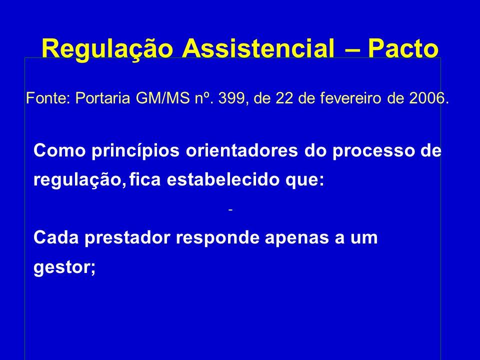 Regulação Assistencial – Pacto