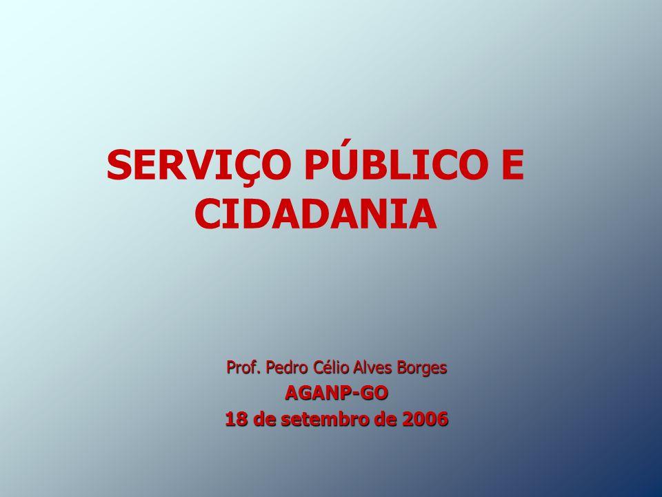 SERVIÇO PÚBLICO E CIDADANIA