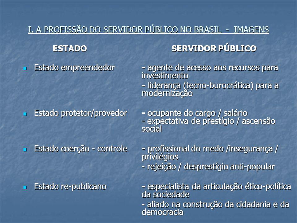 I. A PROFISSÃO DO SERVIDOR PÚBLICO NO BRASIL - IMAGENS