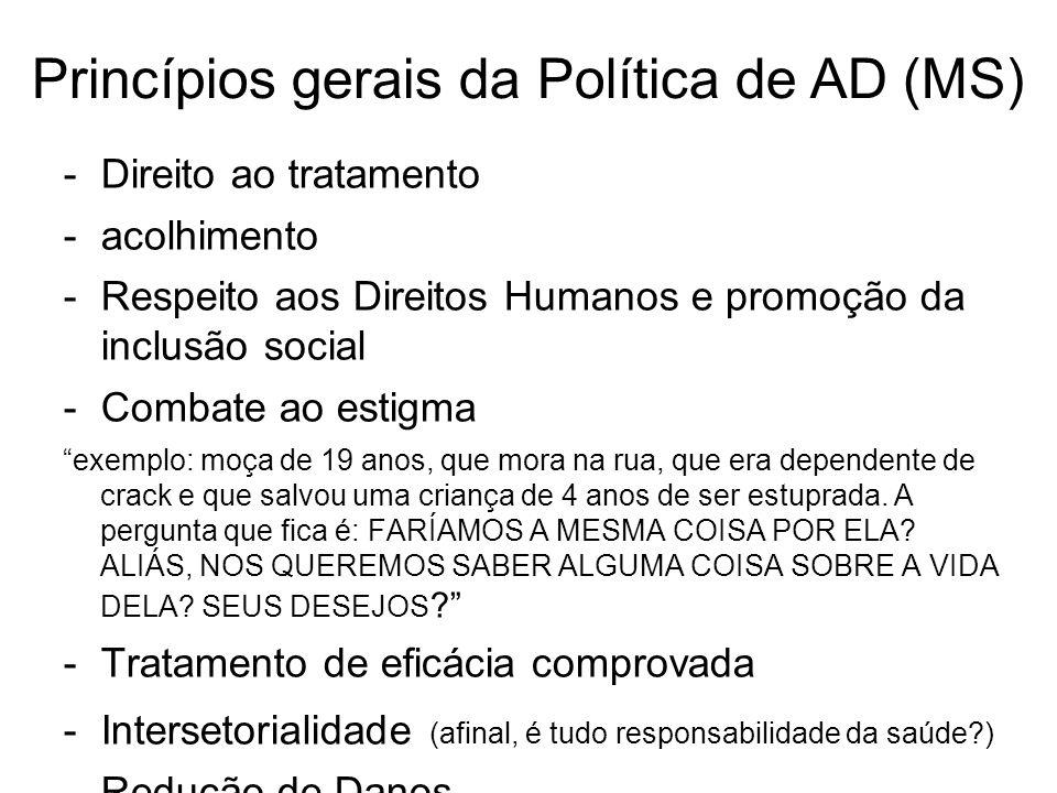 Princípios gerais da Política de AD (MS)