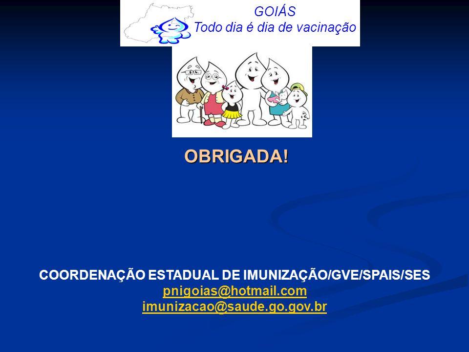 COORDENAÇÃO ESTADUAL DE IMUNIZAÇÃO/GVE/SPAIS/SES