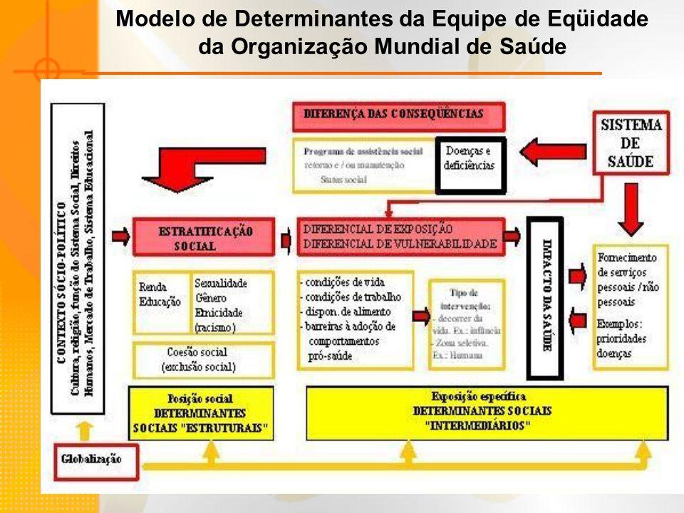 Modelo de Determinantes da Equipe de Eqüidade da Organização Mundial de Saúde