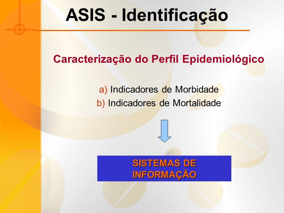 Caracterização do Perfil Epidemiológico SISTEMAS DE INFORMAÇÃO