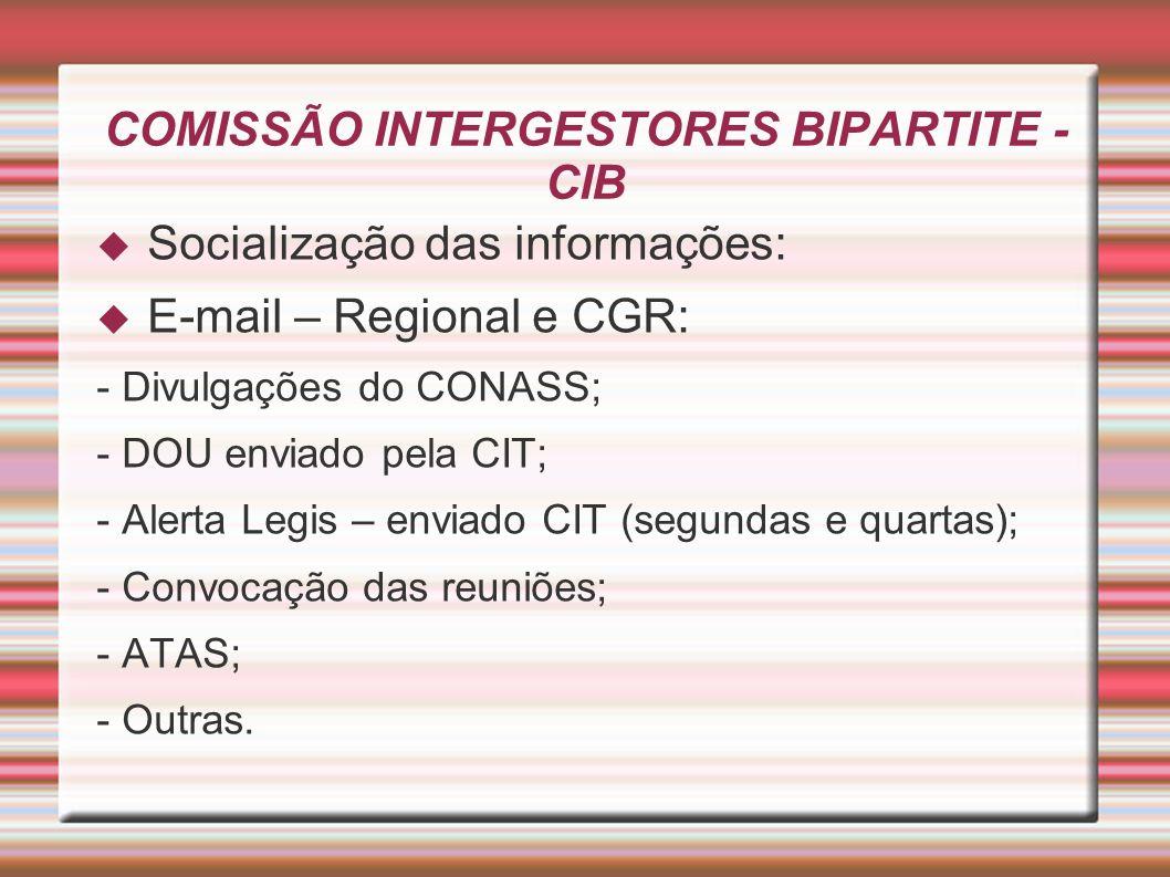 COMISSÃO INTERGESTORES BIPARTITE - CIB