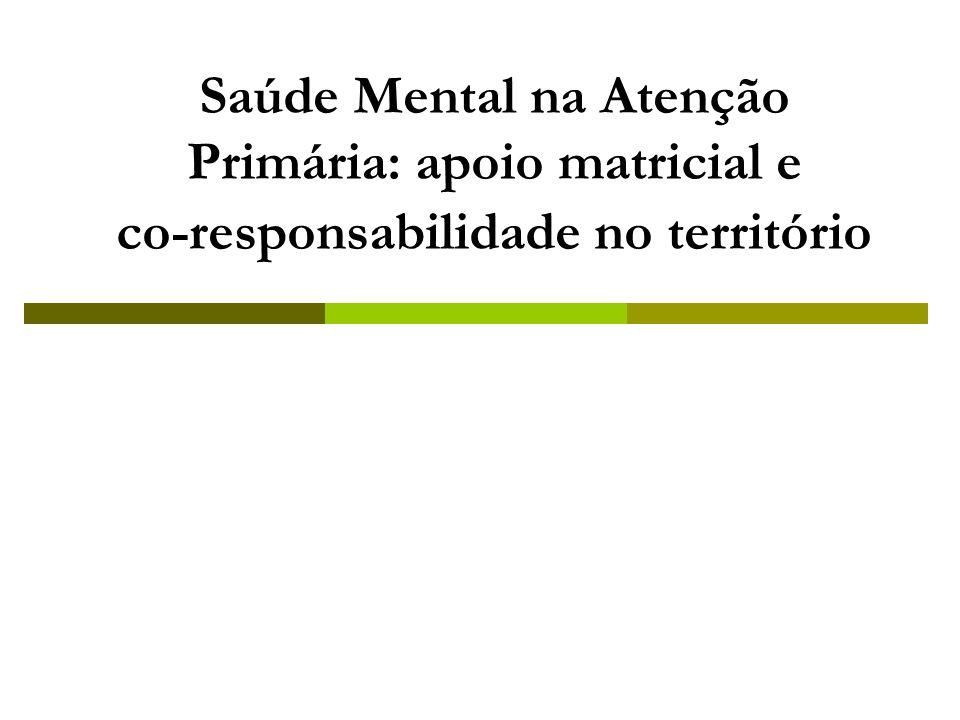 09/20/09 Saúde Mental na Atenção Primária: apoio matricial e co-responsabilidade no território