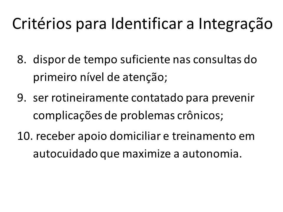 Critérios para Identificar a Integração