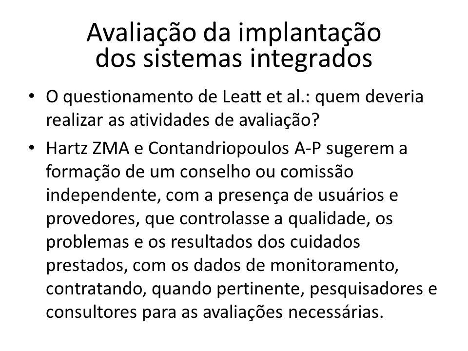 Avaliação da implantação dos sistemas integrados