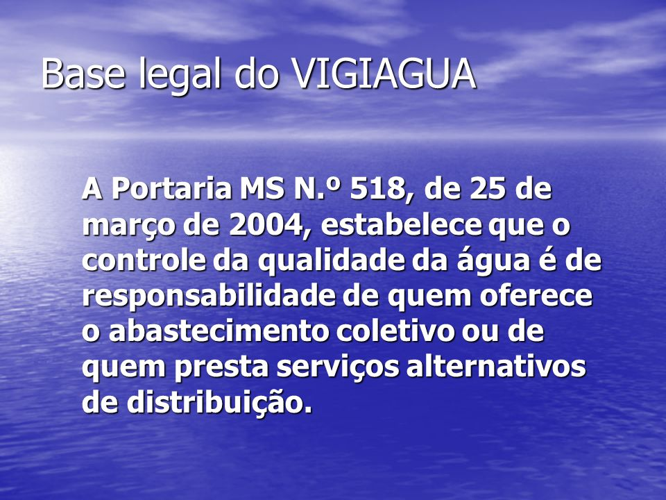 Base legal do VIGIAGUA