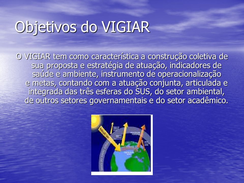 Objetivos do VIGIAR