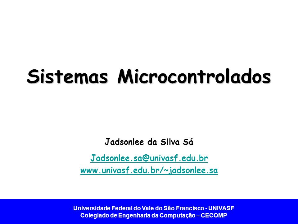 Sistemas Microcontrolados