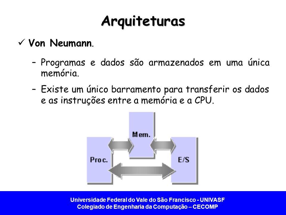 Arquiteturas Von Neumann.