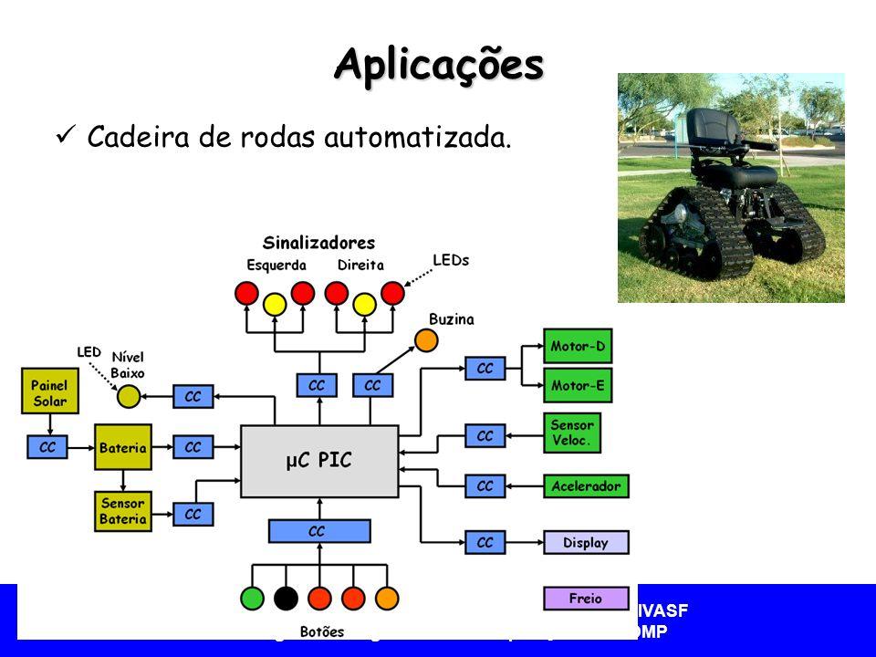 Aplicações Cadeira de rodas automatizada.