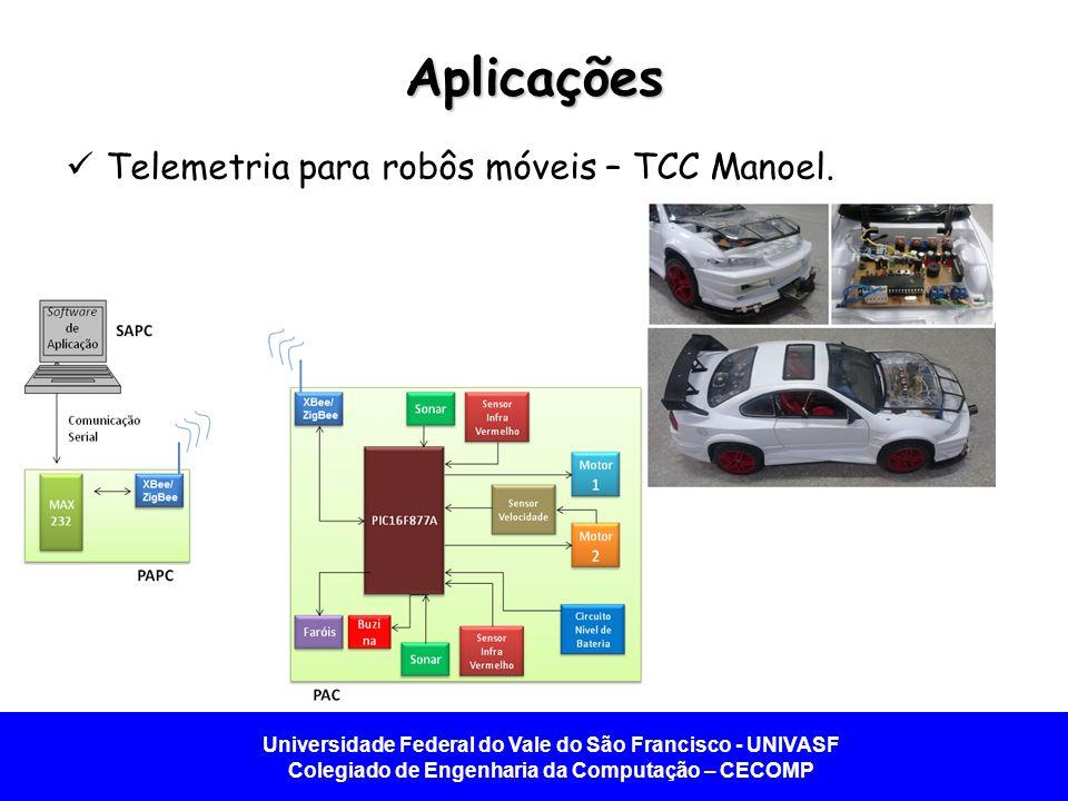 Aplicações Telemetria para robôs móveis – TCC Manoel.