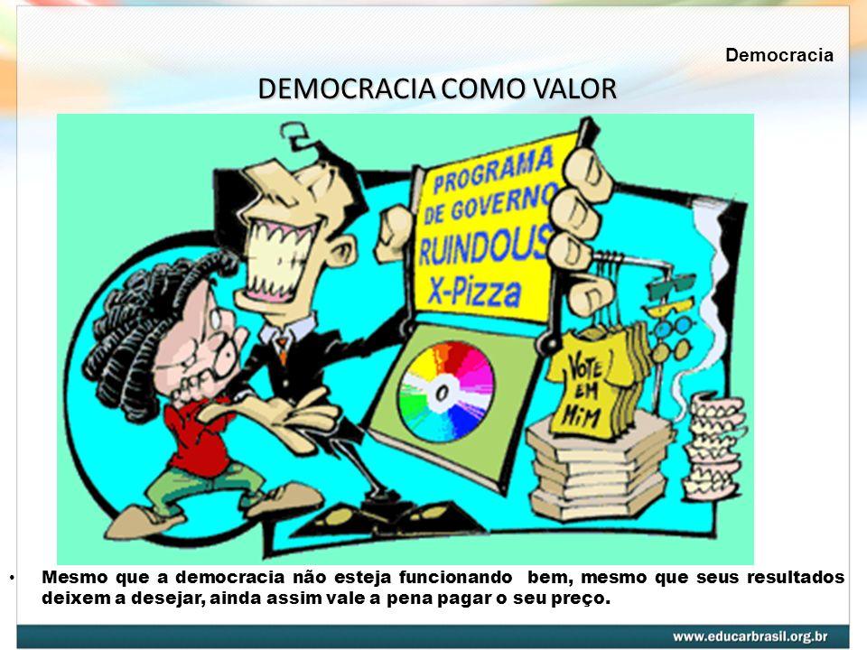 DEMOCRACIA COMO VALOR Democracia